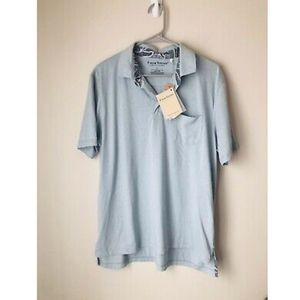 NWT Tailor Vintage Blue BDH Fast Dry Polo - Large